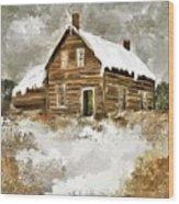 Memories Of Winters Past Wood Print
