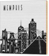 Memphis Skyline Panorama Wood Print
