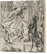 Mercury And Aeneas  State    Wood Print