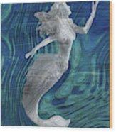 Mermaid - Beneath The Waves Series Wood Print
