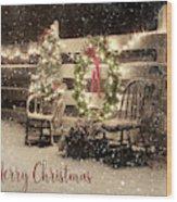 Merry Christmas To All Wood Print