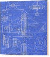 Merry Go Round Amusement Carousel Vintage Patent Blueprint Wood Print