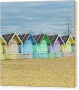 Mersea Island Beach Huts, Image 3 Wood Print