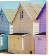 Mersea Island Beach Huts, Image 6 Wood Print