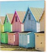 Mersea Island Beach Huts, Image 7 Wood Print