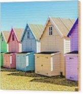 Mersea Island Beach Huts, Image 9 Wood Print