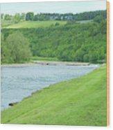 Mertoun Salmon Beat On River Tweed Wood Print