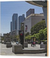 Metro Station Civic Center Los Angeles Wood Print