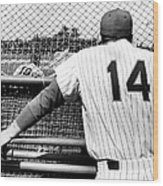 Mets Manager Gil Hodges Gets Catchers Wood Print
