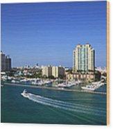 Miami Beach Marina Wood Print
