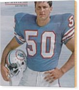 Miami Dolphins Frank Emanuel Sports Illustrated Cover Wood Print