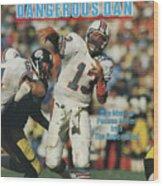 Miami Dolphins Qb Dan Marino, 1985 Afc Championship Sports Illustrated Cover Wood Print