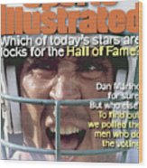 Miami Dolphins Qb Dan Marino, 1995 Nfl Football Preview Sports Illustrated Cover Wood Print
