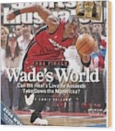 Miami Heat Dwyane Wade, 2006 Nba Eastern Conference Finals Sports Illustrated Cover Wood Print
