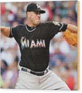 Miami Marlins V Cleveland Indians Wood Print