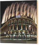 Miami Marlins V New York Mets Wood Print