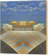 Miami Mirror Beach Wood Print