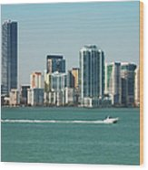Miami Skyline - Verical Wood Print