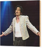 Michael Jackson Performs Onstage During Wood Print