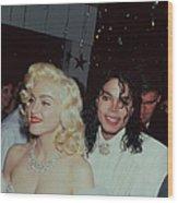 Michael Jacksonmadonna Wood Print