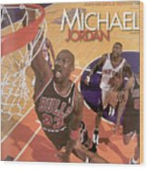 Michael Jordan A Career In Pictures Sports Illustrated Cover Wood Print