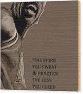 Michael Jordan - Practice Wood Print