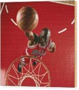 Michael Jordan Slam Dunk Wood Print