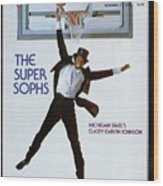 Michigan State Magic Johnson, 1978 College Basketball Sports Illustrated Cover Wood Print