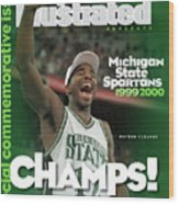 Michigan State University Mateen Cleaves, 2000 Ncaa Sports Illustrated Cover Wood Print
