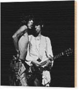 Mick And Keith Wood Print