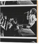 Mick Jagger Of The Rolling Stones In Wood Print