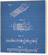 Microscope Slide Patent Wood Print