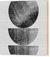 Mid Century Circle And Half Circles Wood Print