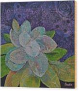 Midnight Magnolia I Wood Print