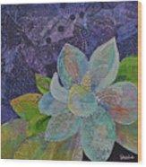Midnight Magnolia II Wood Print