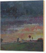 Midwest Merge Wood Print