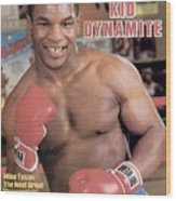 Mike Tyson, Heavyweight Boxing Sports Illustrated Cover Wood Print