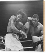 Mike Tyson Punches Mitch Green Wood Print