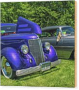 Mild Customs 1936 Ford And 1953 Chevy Wood Print