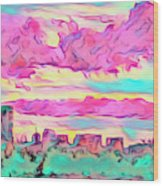 Mile High Sunset Wood Print