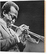 Miles Davis Performs At The Newport Wood Print