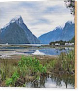 Milford Sound - New Zealand Wood Print