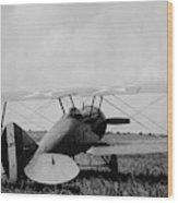 Military Biplane - Marine Flying Field - 1918 Wood Print