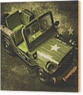 Military Green Wood Print