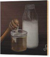 Milk And Honey  Wood Print