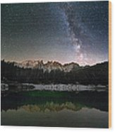 Milky Way In The Alps Wood Print