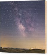 Milky Way In Val D'orcia Wood Print