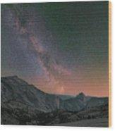 Milky Way Over Half Dome, Yosemite Wood Print