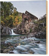 Mill On Crystal River Wood Print