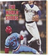 Milwaukee Brewers Robin Yount, 1982 World Series Sports Illustrated Cover Wood Print